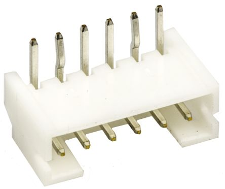 JST , PH, S6B, 6 Way, 1 Row, Right Angle PCB Header (5)