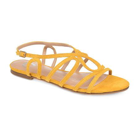 Journee Collection Womens Honey Pumps Block Heel, 6 Medium, Yellow
