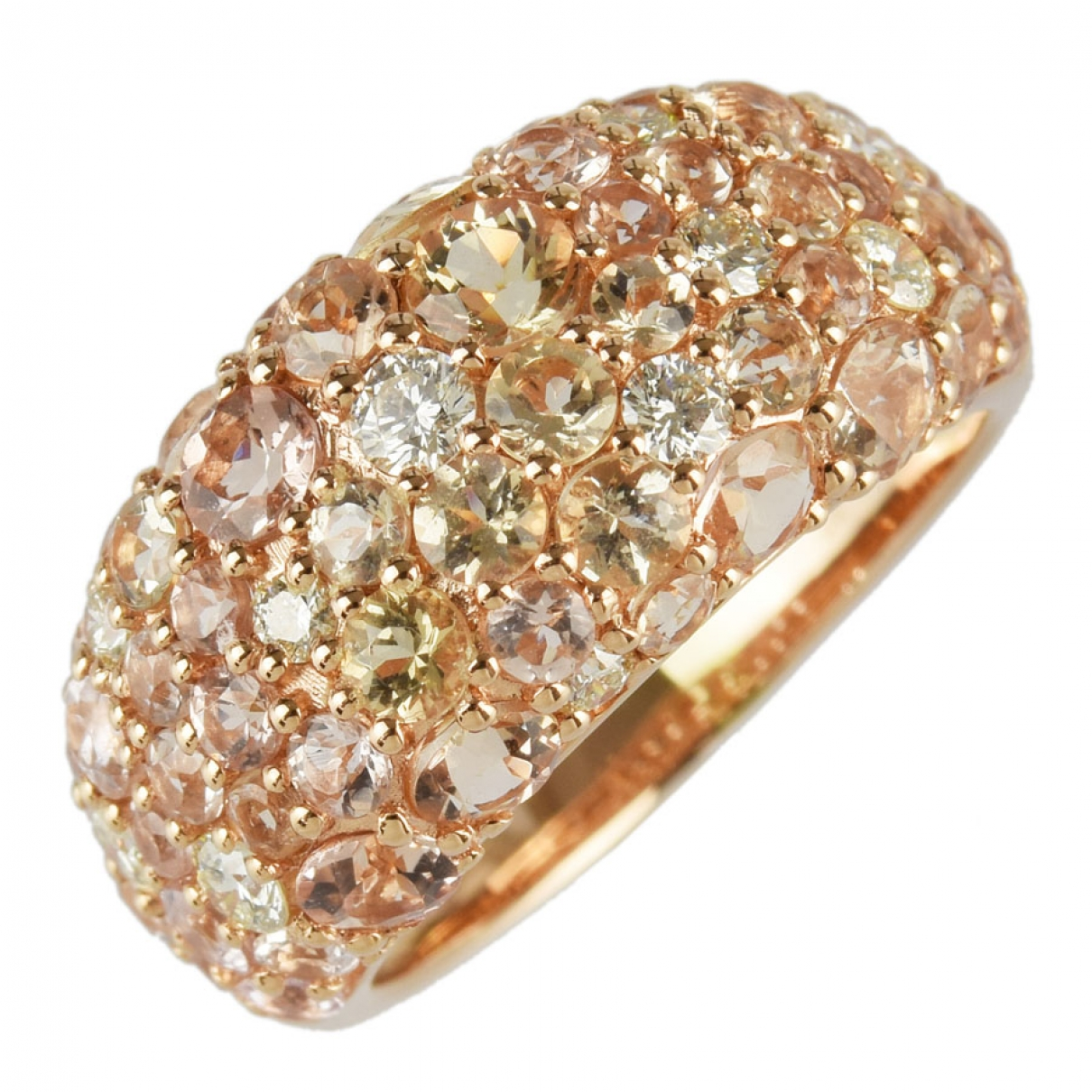 Non Signé / Unsigned \N Gold Pink gold ring for Women \N