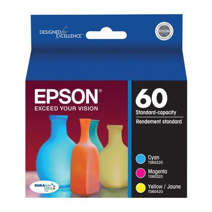 Epson T060520 Original Color Ink Cartridge Combo C/M/Y