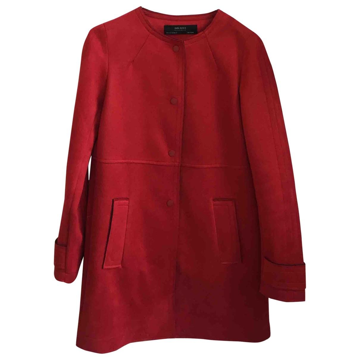 Zara \N Maentel in  Rot Leder