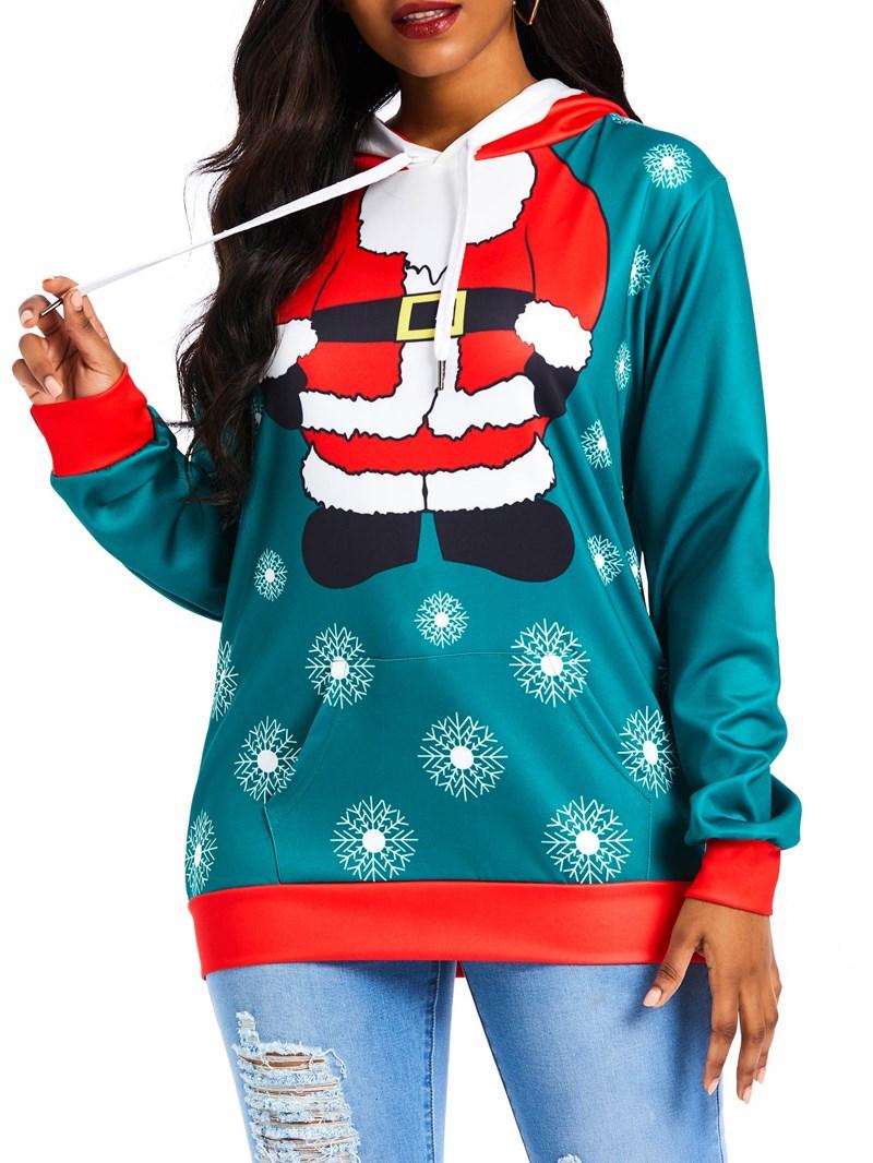 Ericdress Print Color Block Standard Winter Hoodie