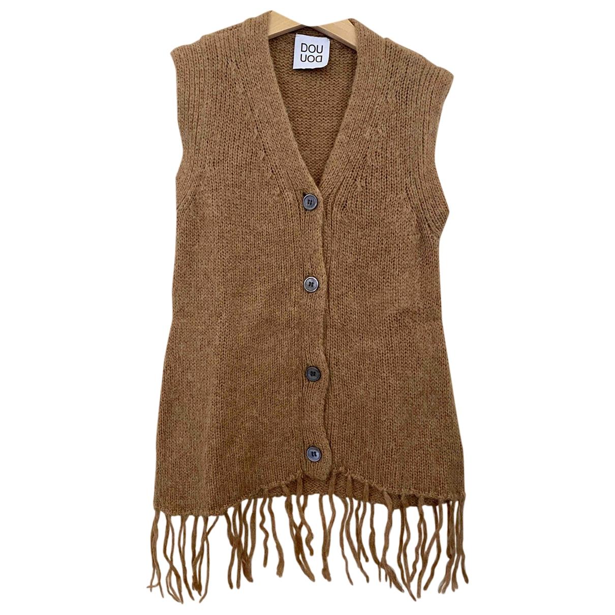 Douuod \N Pullover, StrickJacke in  Kamel Wolle