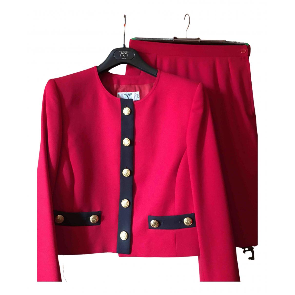 Valentino Garavani N Red Wool jacket for Women 44 IT