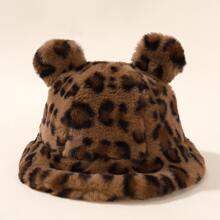 Toddler Kids Leopard Pattern Hat