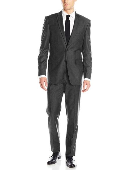 Men's Grey 2 Button Single Breasted Classic & Slim Fit Suits