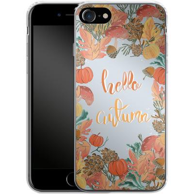 Apple iPhone 8 Silikon Handyhuelle - Hello Autumn von Mukta Lata Barua