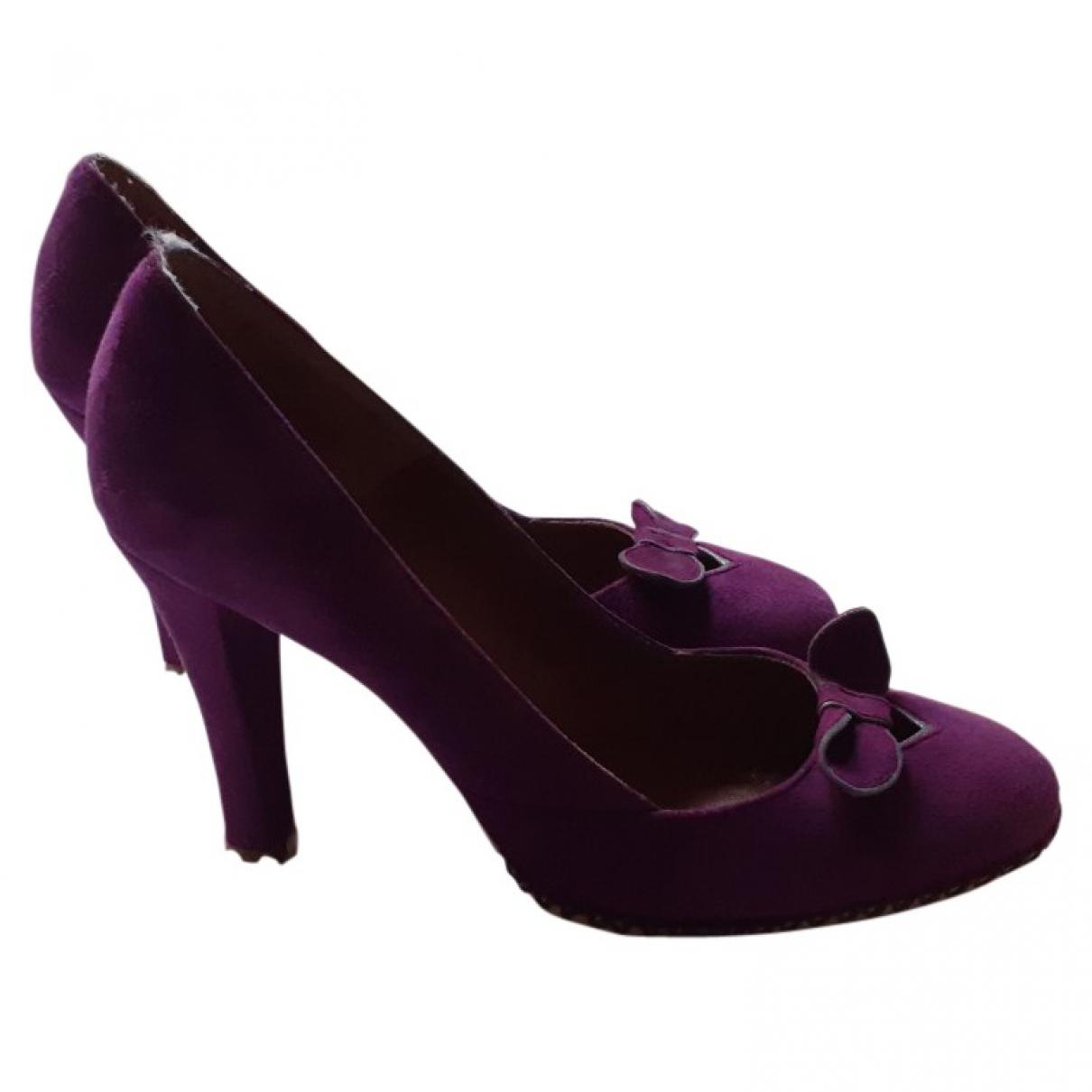Marc Jacobs - Escarpins   pour femme en suede - violet
