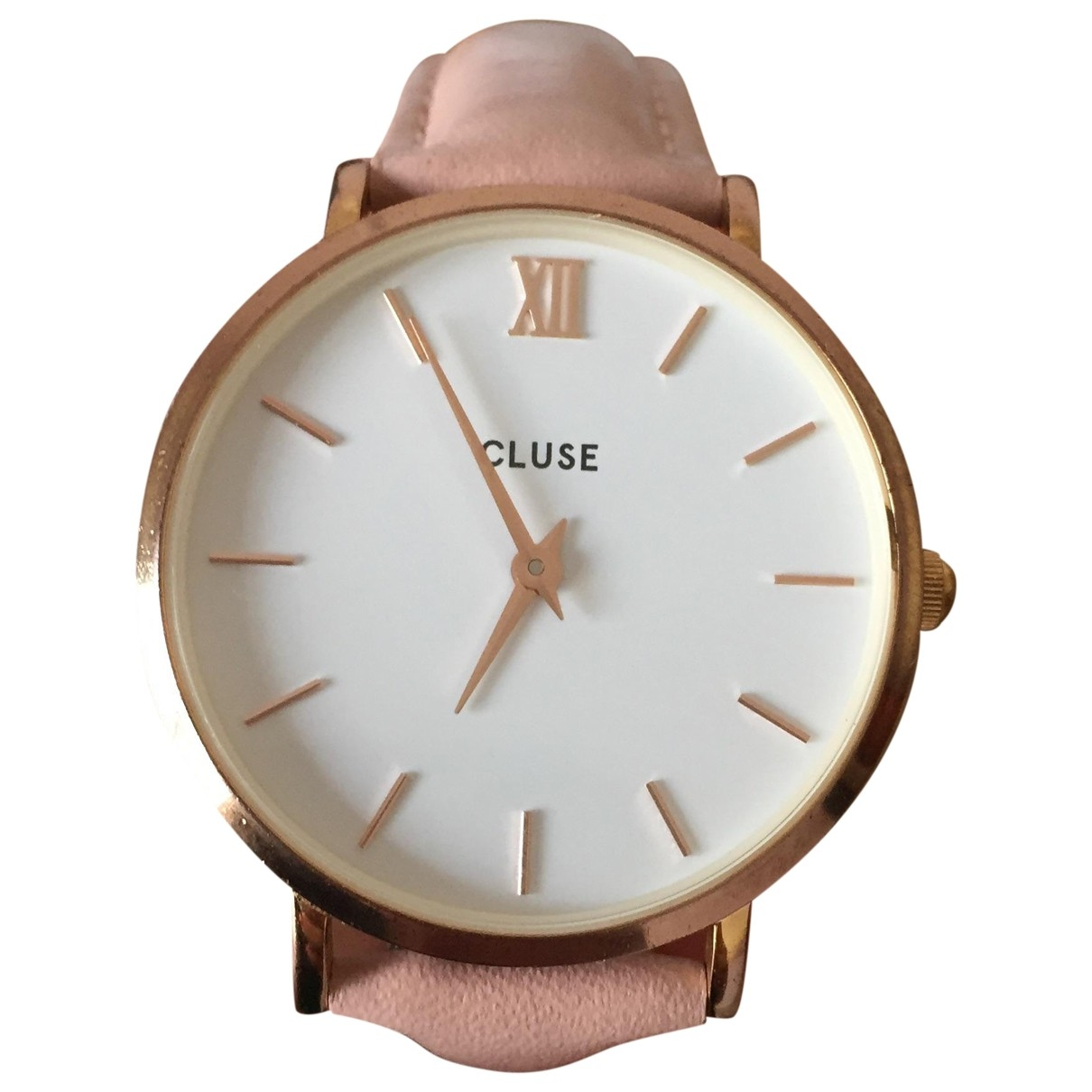 Cluse \N Pink Steel watch for Women \N