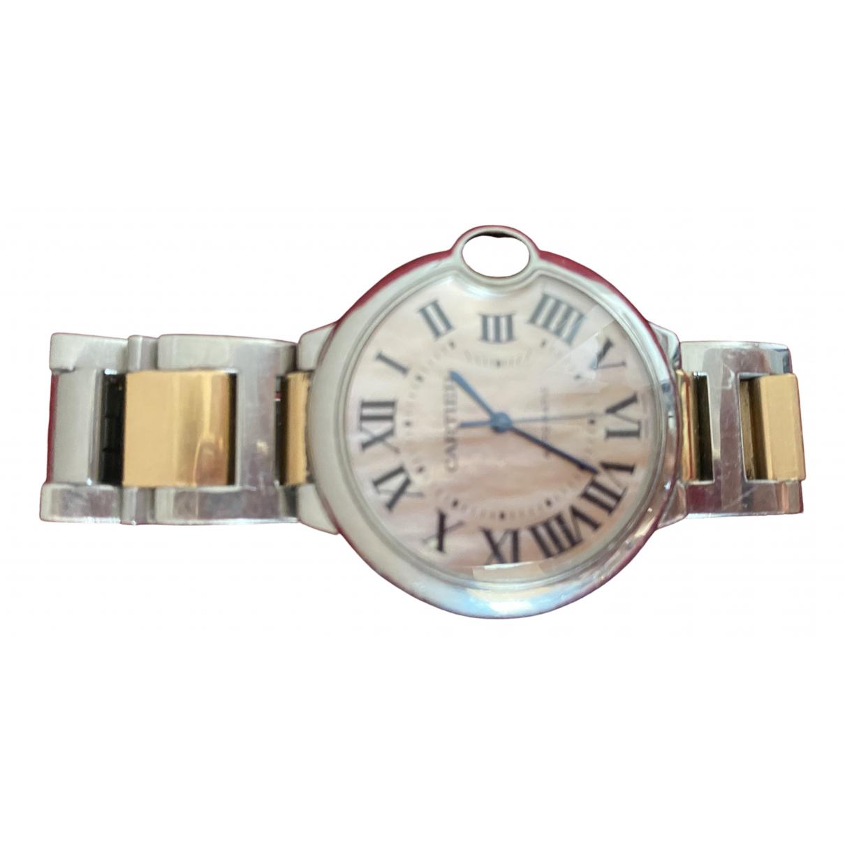 Cartier Ballon bleu Metallic gold and steel watch for Women \N