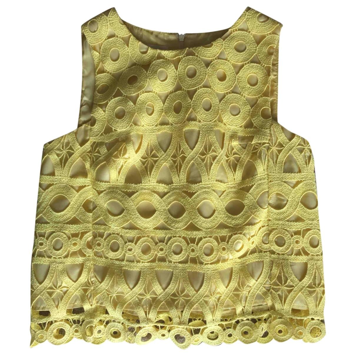 Dondup - Top   pour femme en coton - jaune