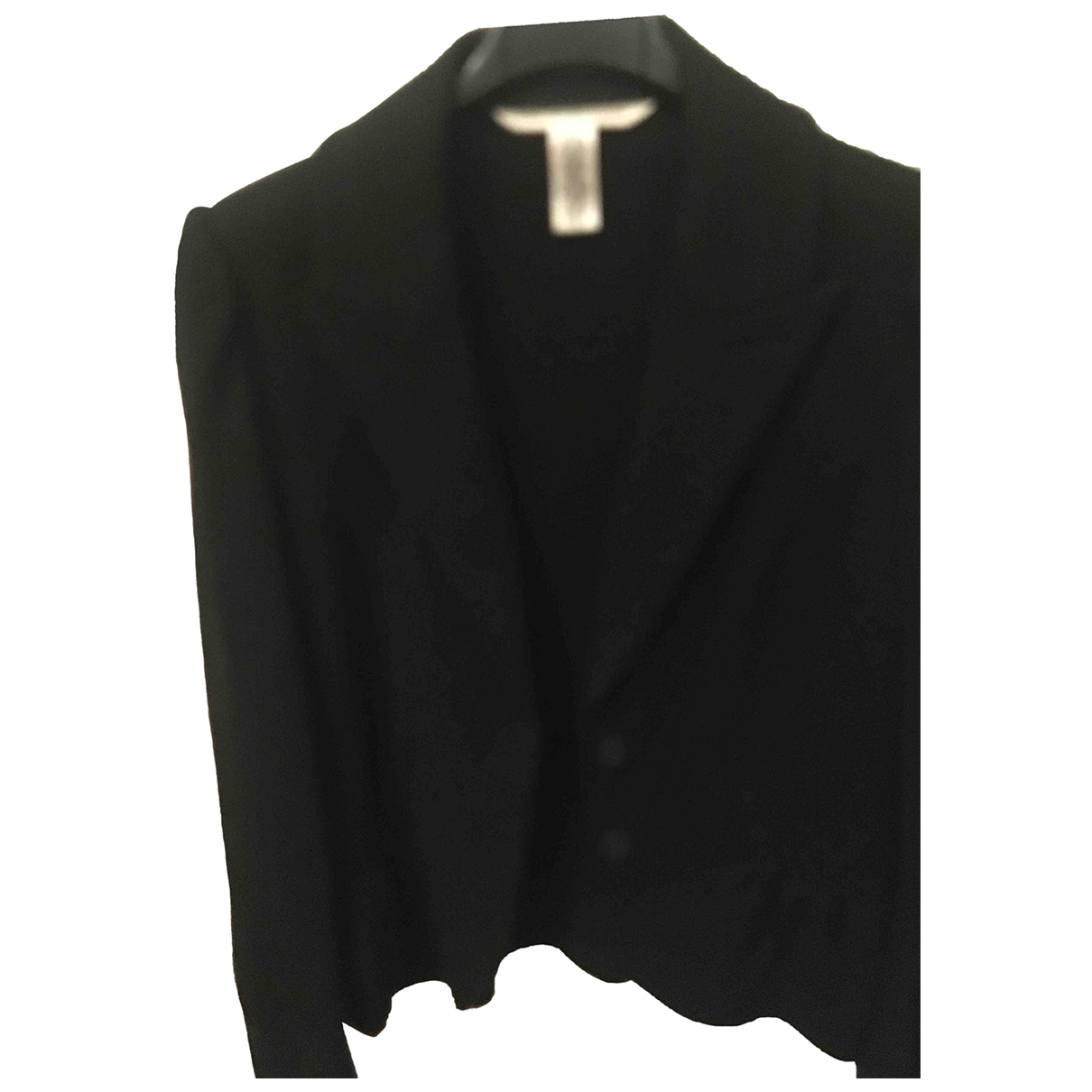 Diane Von Furstenberg \N Black Wool jacket for Women 42 IT