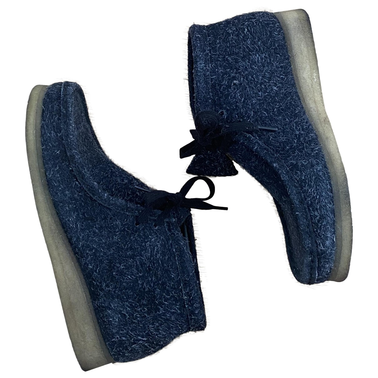 Clarks \N Sneakers in  Blau Veloursleder