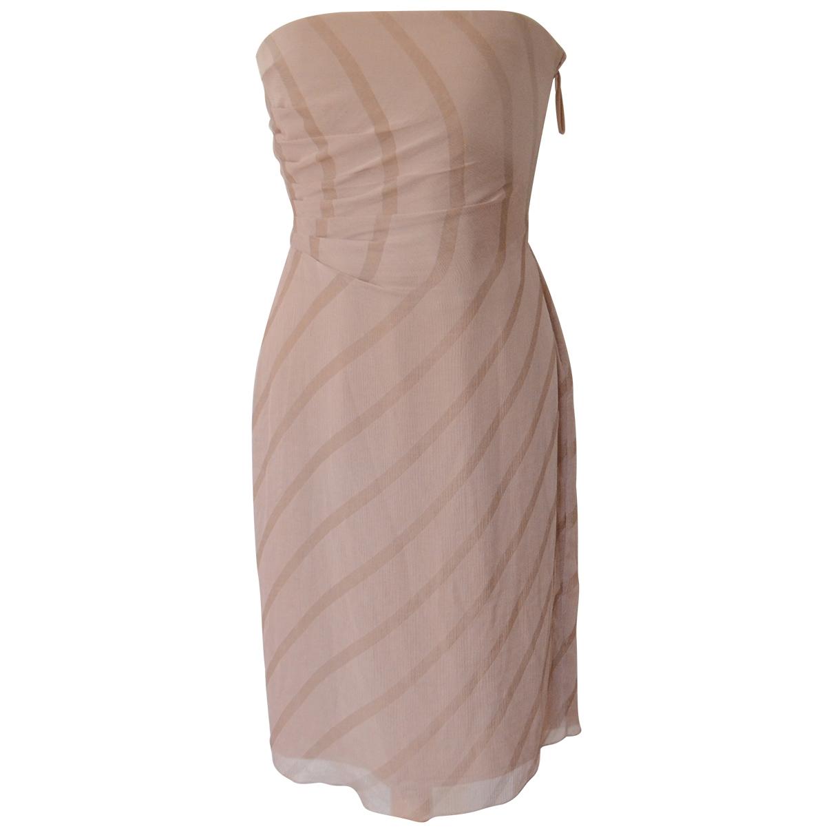 Armani Collezioni - Robe   pour femme en soie - rose