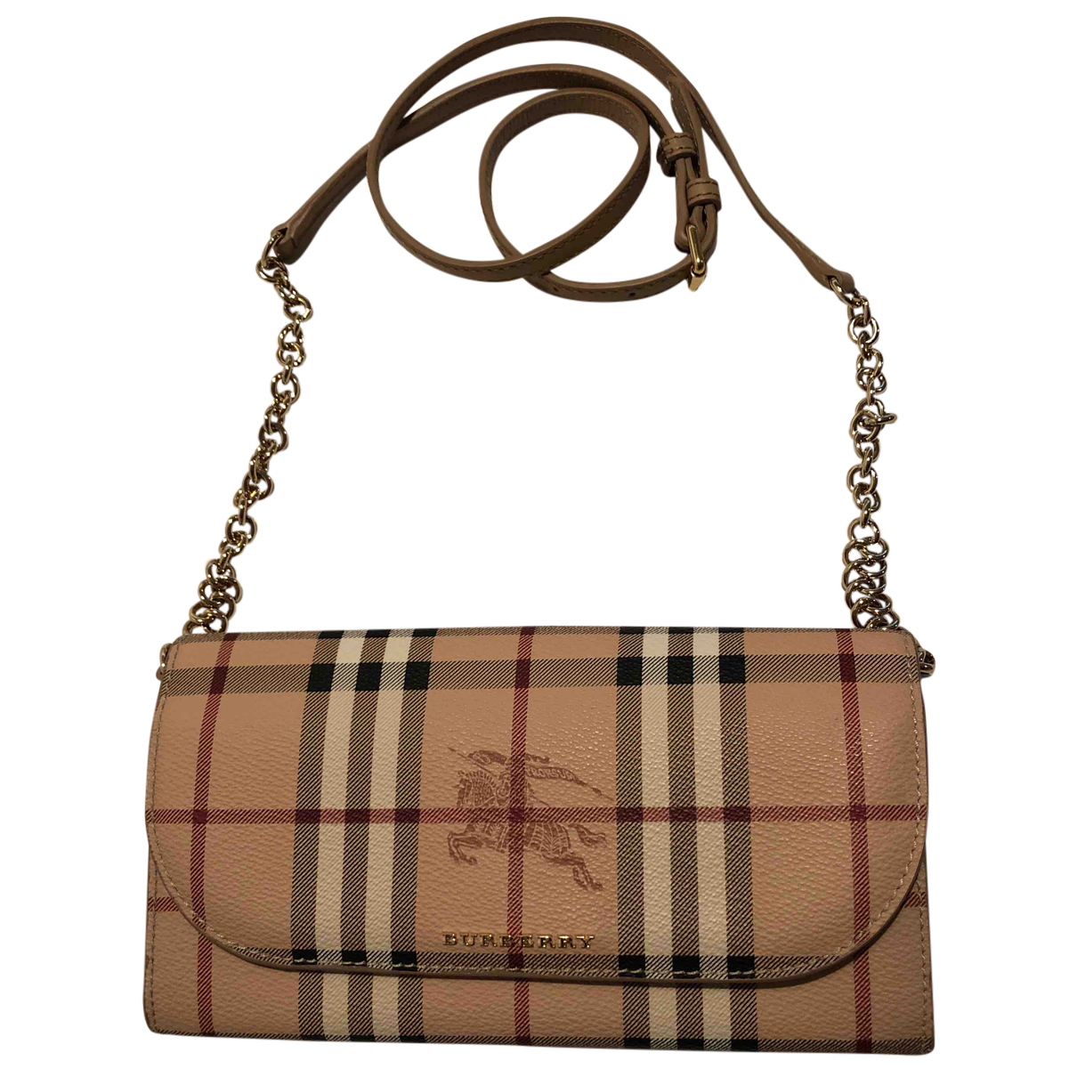 Burberry \N Clutch in  Kamel Leder