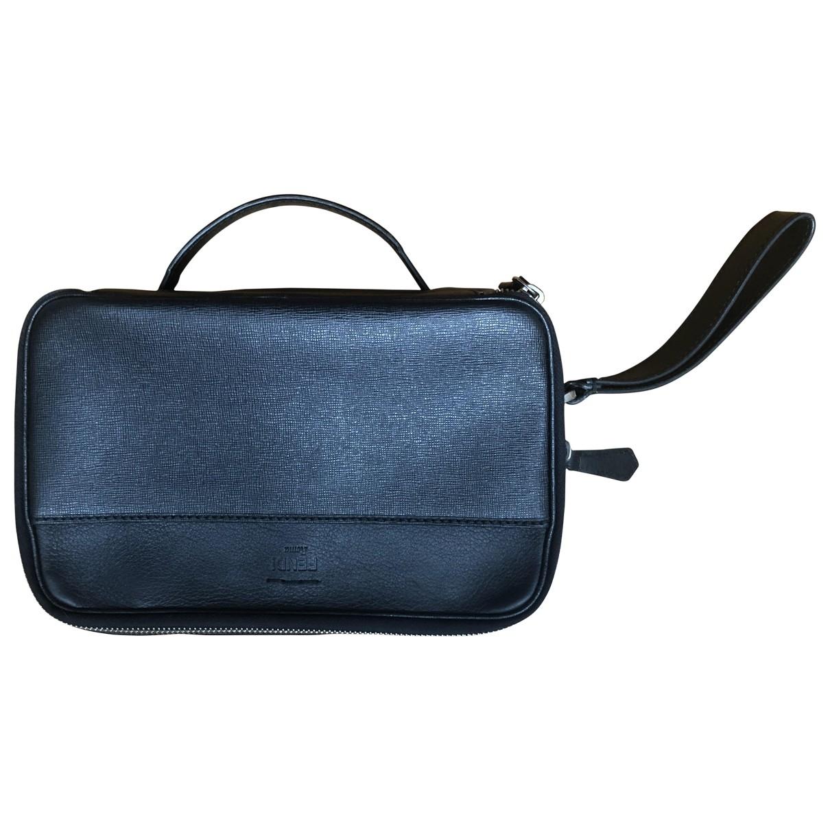 Fendi \N Black Leather bag for Men \N