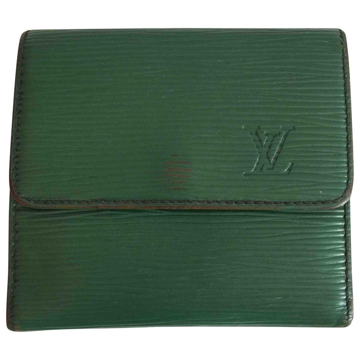 Louis Vuitton - Portefeuille   pour femme en cuir - vert