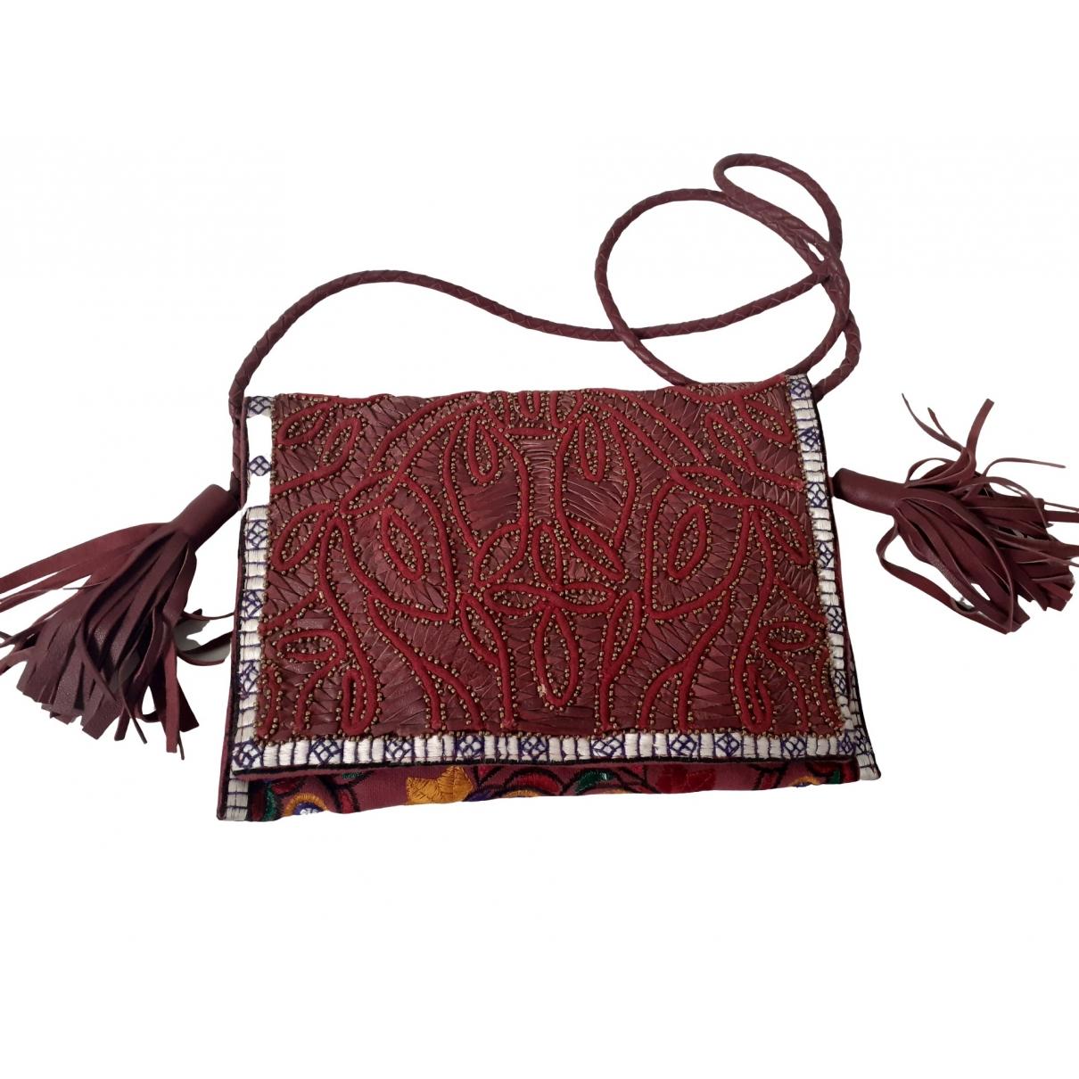 Antik Batik \N Clutch in  Bordeauxrot Baumwolle
