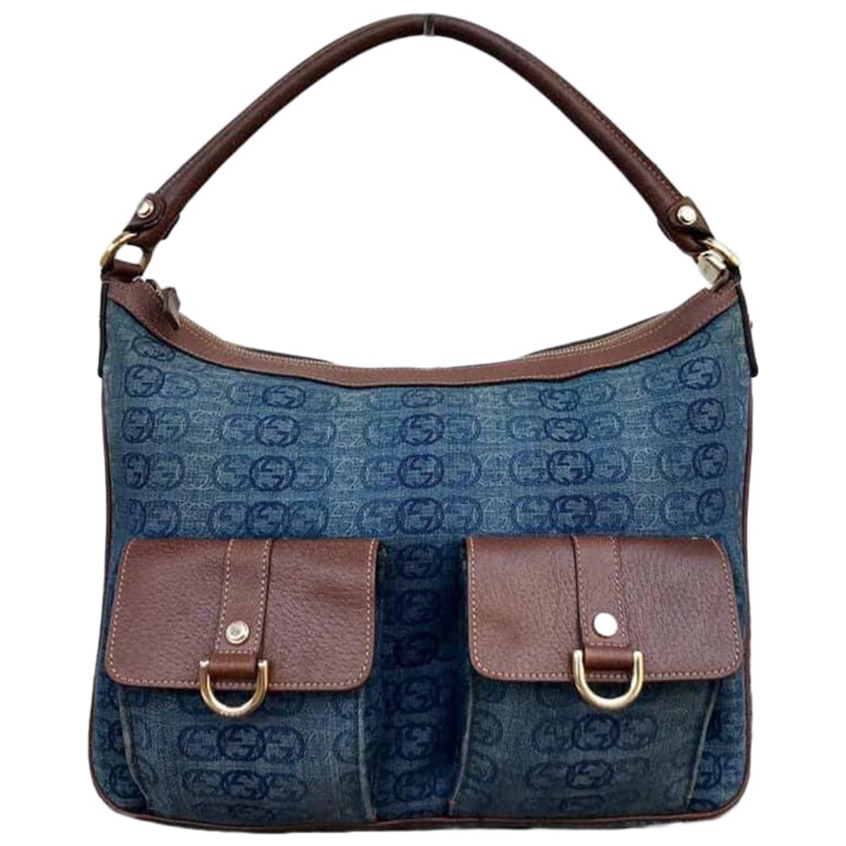 Gucci Hobo Handtasche in  Blau Denim - Jeans