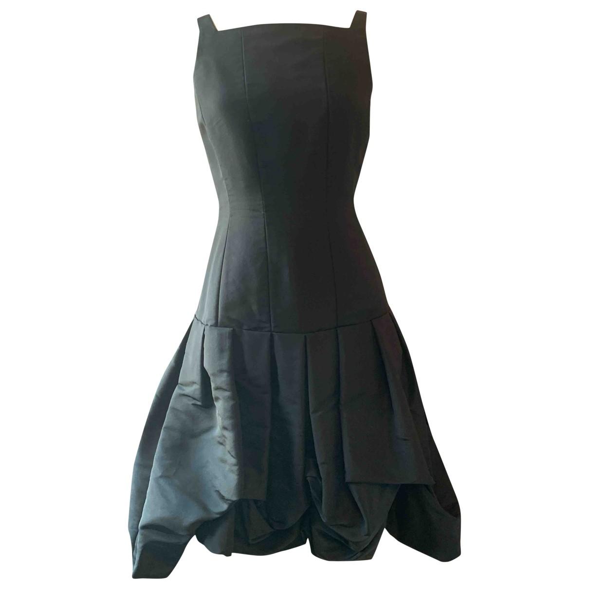 Oscar De La Renta - Robe   pour femme en soie - noir