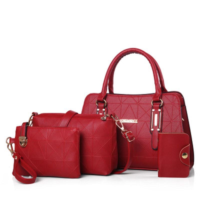 Ericdress Concise Geometric Embossing Handbag(4 Bags)