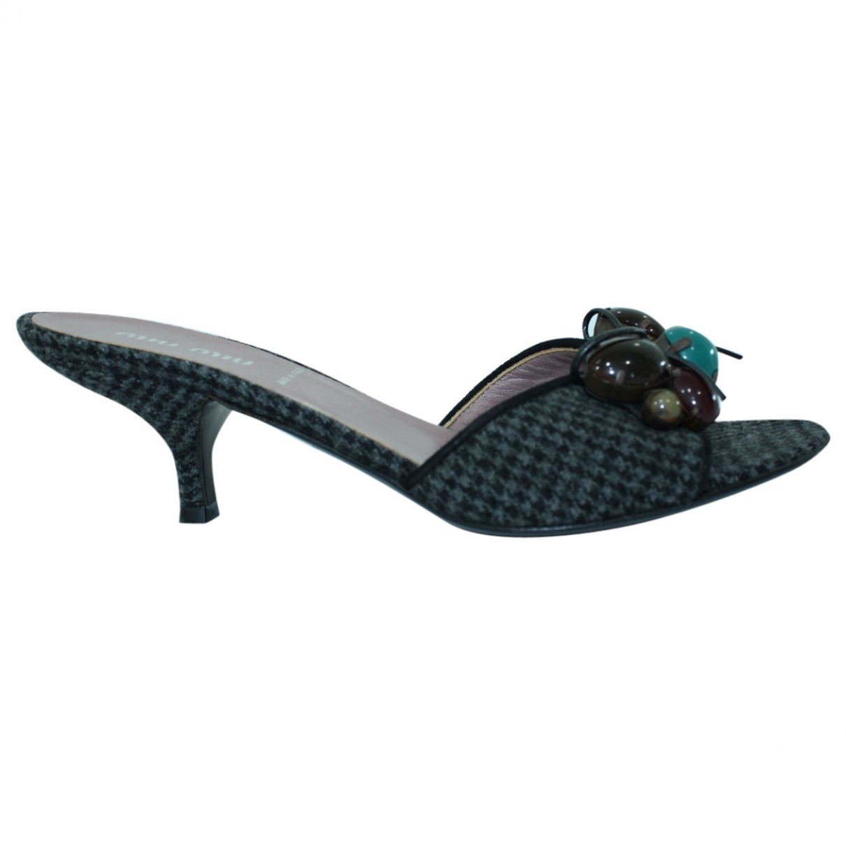 Miu Miu \N Grey Leather Sandals for Women 35 EU
