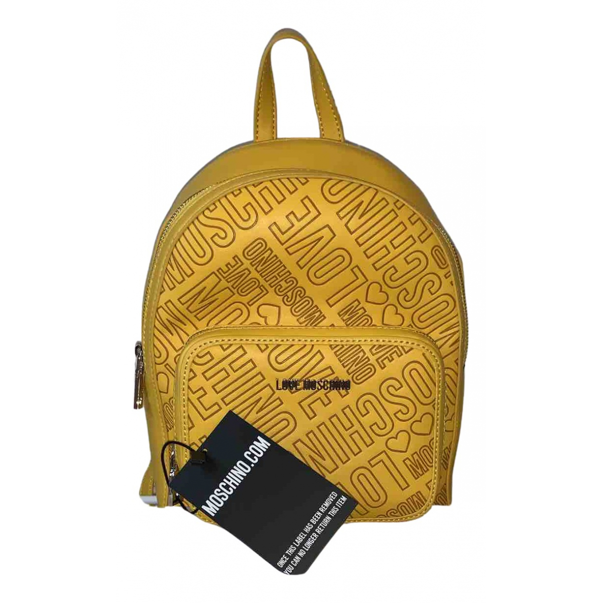 Moschino Love N Yellow Leather backpack for Women N