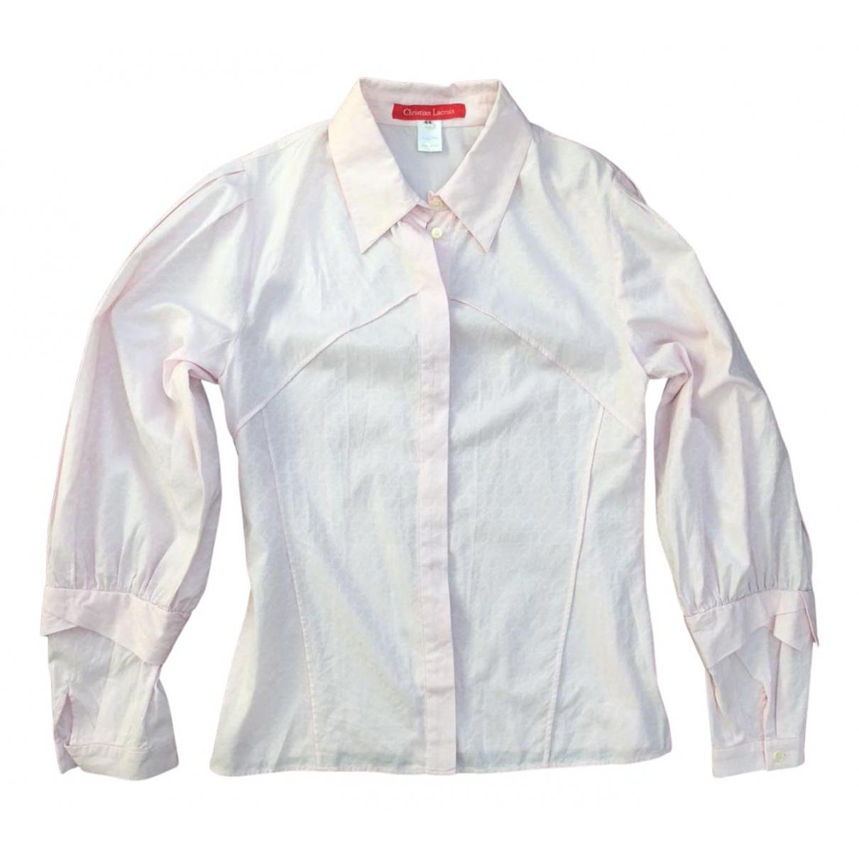 Christian Lacroix N Pink Cotton  top for Women 44 IT