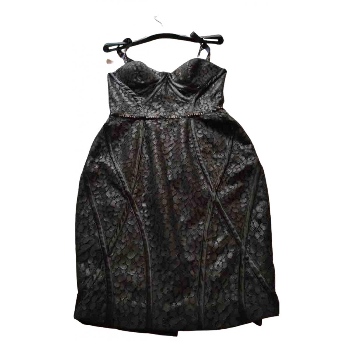 John Richmond \N Kleid in  Schwarz Synthetik