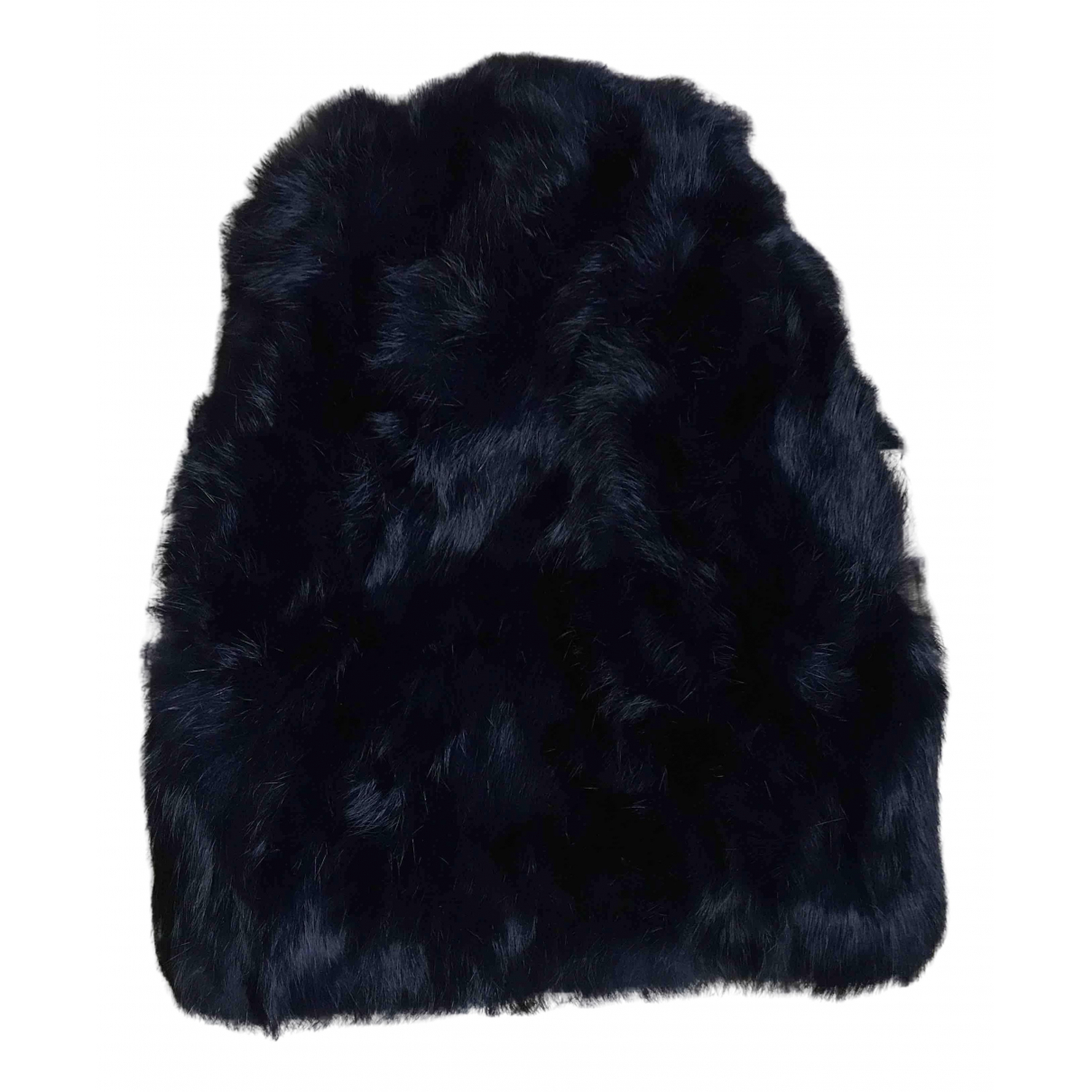 Non Signé / Unsigned N Blue Fur hat for Women XS International