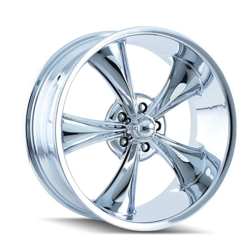 Ridler 695 Chrome 18x8 5x120.65 0mm 83.82mm Wheel