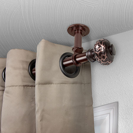 Rod Desyne Maple Ceiling Curtain Rod, One Size , Brown