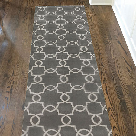 Pisa Chain Modern Geometric Contemporary Area Rug, One Size , Gray
