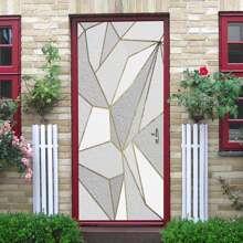 Geometric Pattern Door Sticker