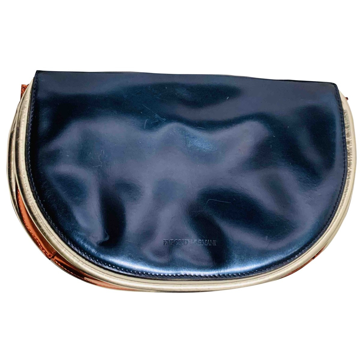 Emporio Armani \N Metallic Leather Clutch bag for Women \N