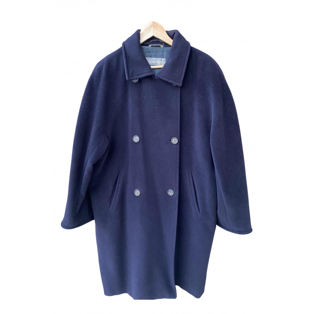 Max Mara \N Maentel in  Blau Wolle