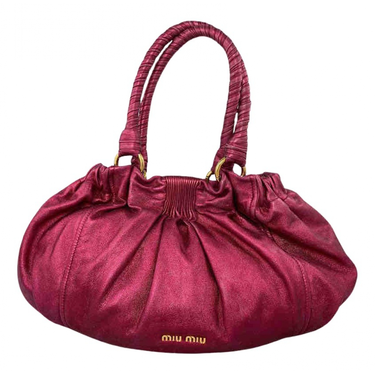 Miu Miu \N Handtasche in  Rosa Leinen