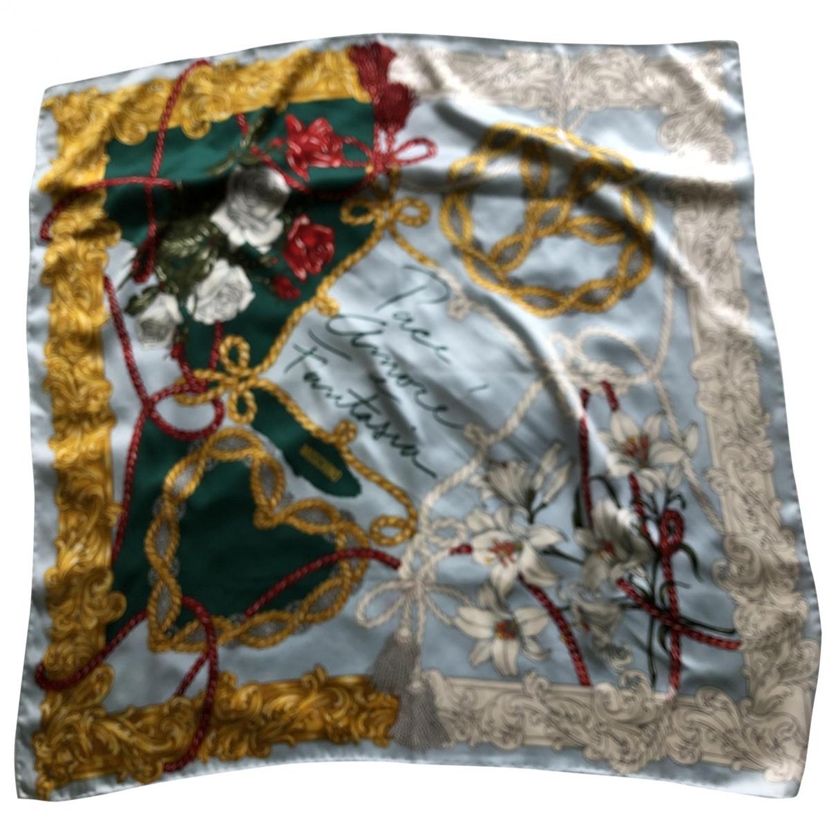 Moschino \N Blue Silk Silk handkerchief for Women \N