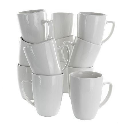 Elama Riley 10-pc. Coffee Mug, One Size , White