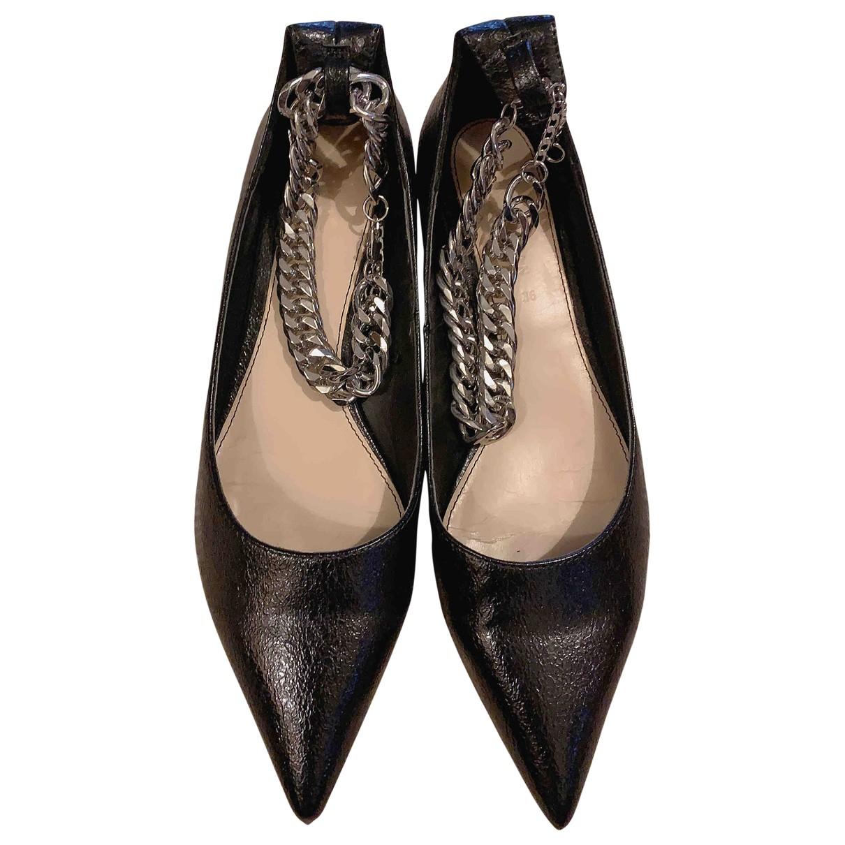 Zara \N Black Leather Ballet flats for Women 3 UK