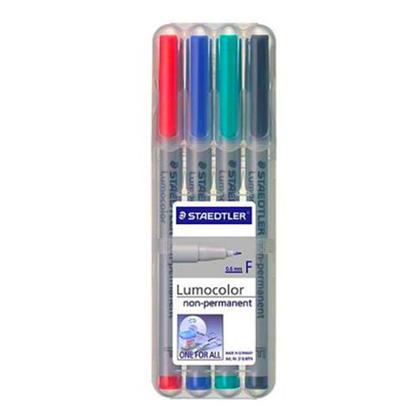 Staedtler@ Lumocolor@ Non-permanent Marker Pens - 4 Colors Set