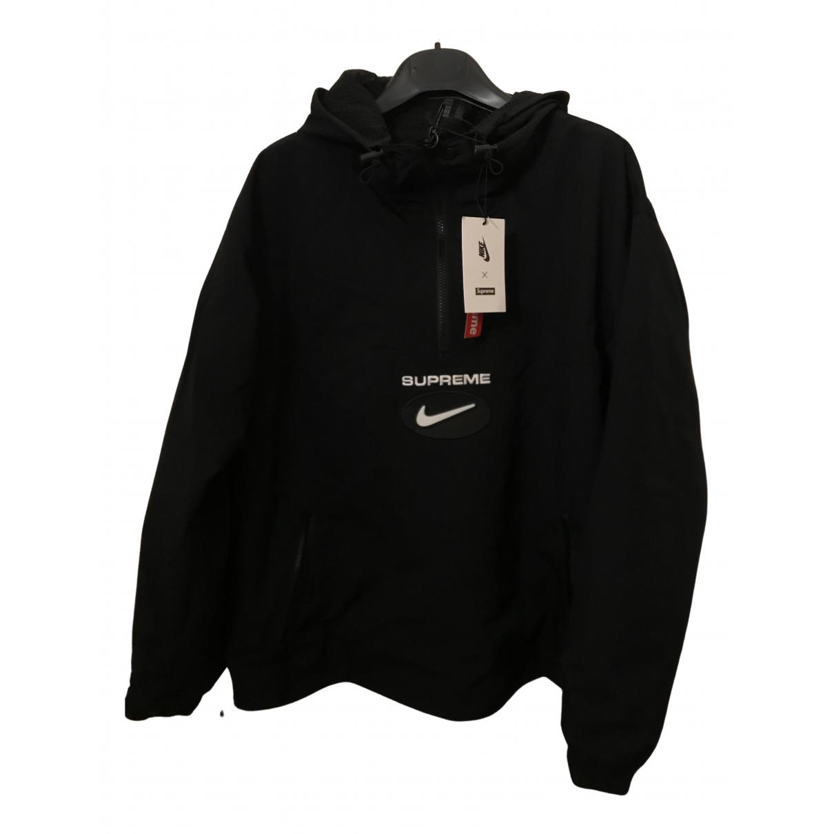 Nike X Supreme \N Jacke in  Schwarz Polyester