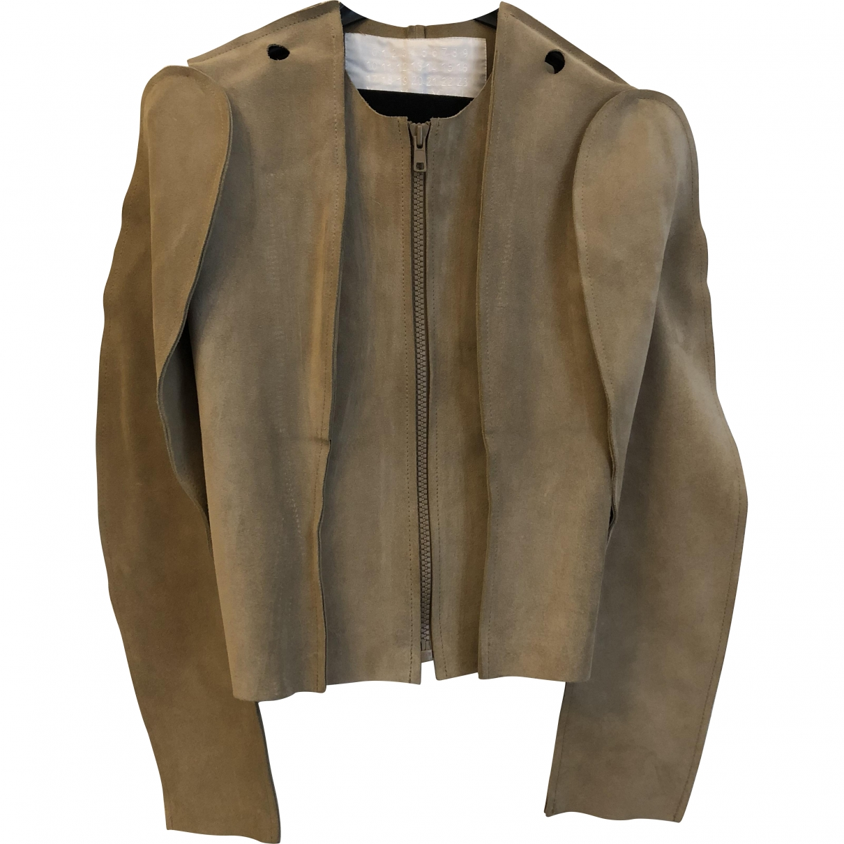 Maison Martin Margiela Pour H&m \N Beige Leather jacket for Women XS International