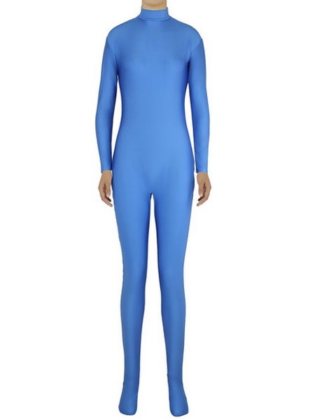 Milanoo Blue Morph Suit Adults Bodysuit Lycra Spandex Catsuit for Women