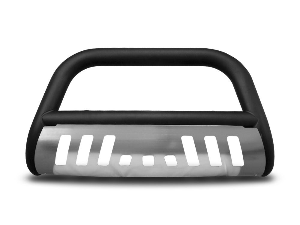 Armordillo 7141636 USA 3 Matte Black w/ Aluminum Skid Plate Classic Bull Bar - w/ Skid Plate Chevrolet Silverado 2500 | 3500 2007-2010