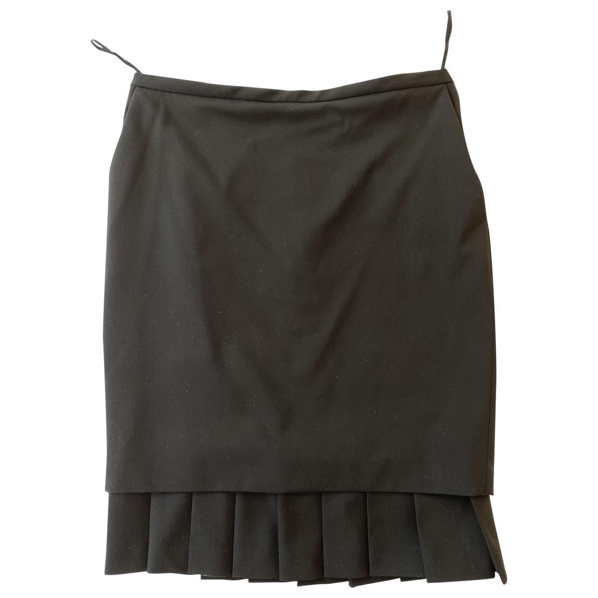 Hermès \N Black Wool skirt for Women 40 FR