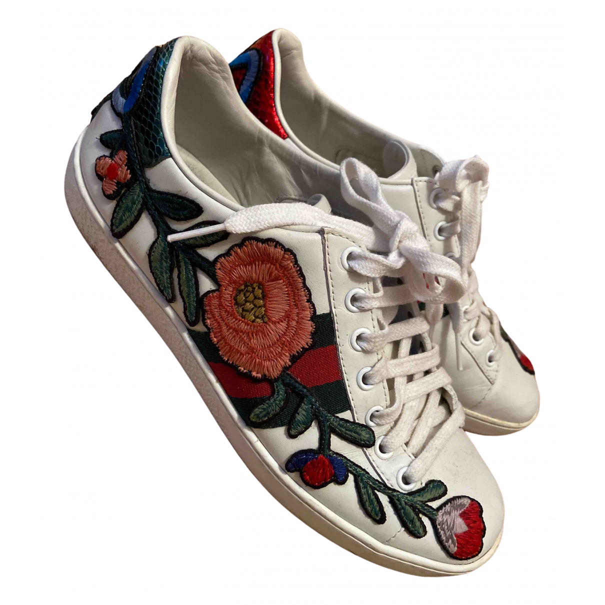 Gucci \N White Leather Trainers for Women 36 EU