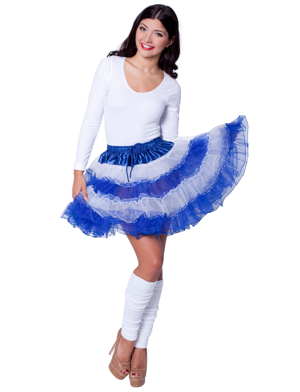Petticoat de luxe blau/weiss gestreift