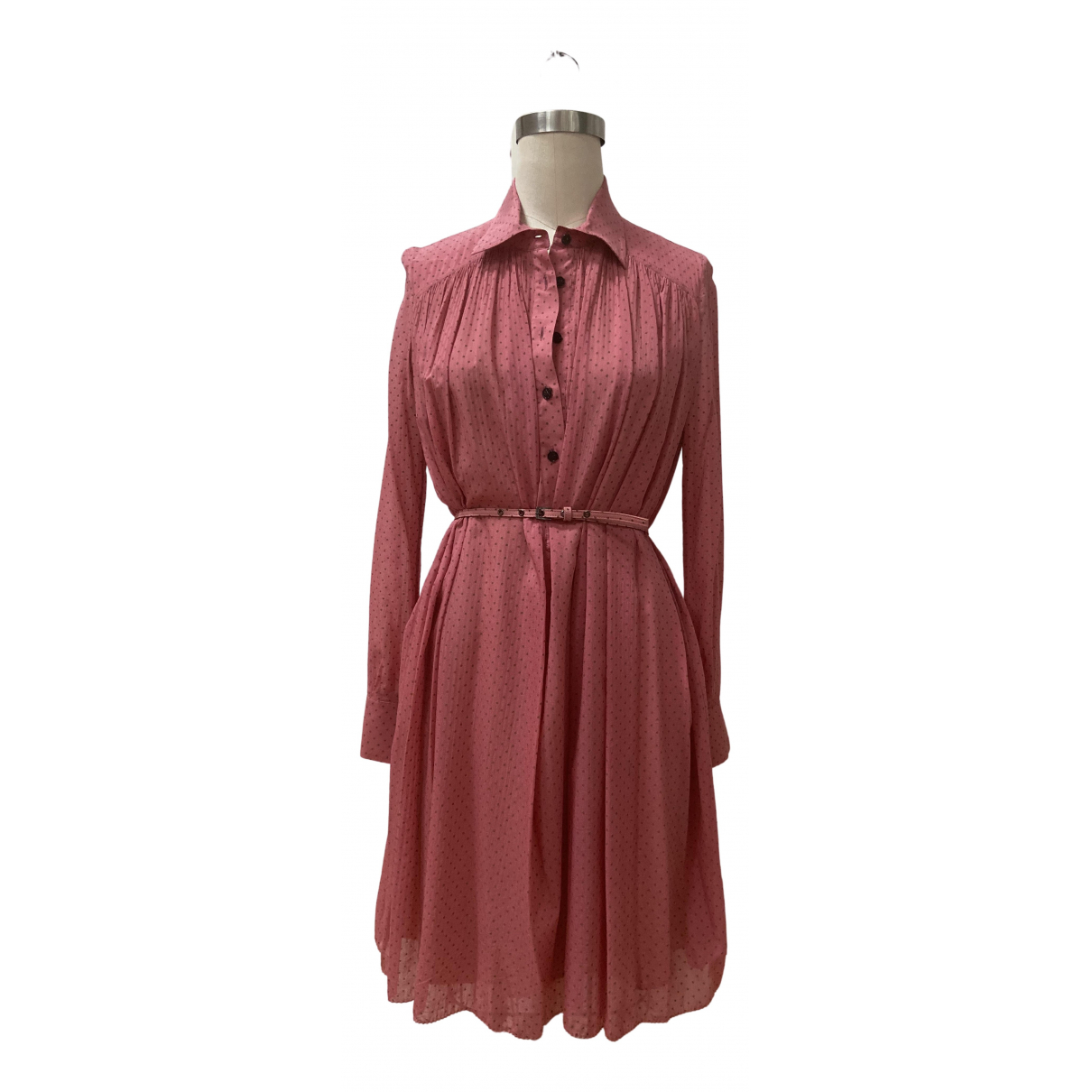 Alessandro Dellacqua \N Pink Silk dress for Women 40 IT