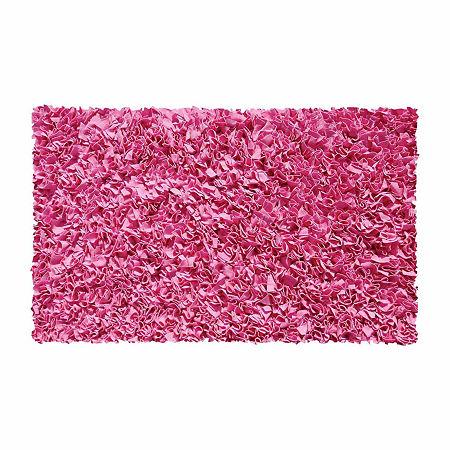 Rug Market Shag Rectangular Rugs, One Size , Pink